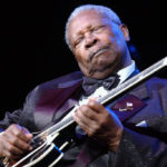 Blues legend, B. B. King, gets down with 'Lucille' during the 80th Birthday  Jam held in King's honor.at the Mississippi Coast Coliseum in Biloxi Saturday  night.